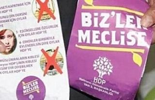 Van'da HDP adına sahte el ilanları dağıttılar