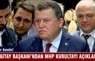 Yargıtay Başkanı Cirit'ten MHP kurultayı...