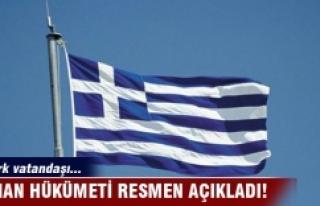 Yunanistan Hükümeti resmen açıkladı! 7 Türk...