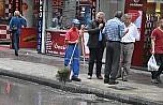 Zonguldak'ta Şiddetli Yağış Etkili Oldu