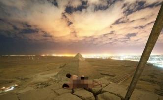 Mısır piramitlerinde rezalet görüntü… Tepesine çıkıp cinsel ilişkiye girdiler!
