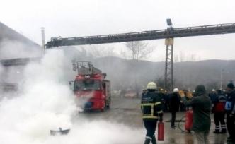 Yangın Tatbikat Eğitimi Gerçeği Aratmadı