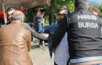 Bursa'da parklara huzur operasyonu
