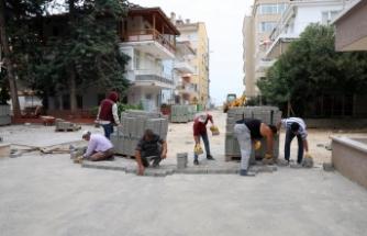 Mudanya'da 20 sokağa 10 bin metrekare parke