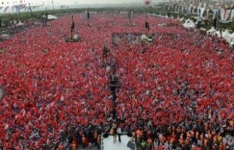 AK Parti mitingine kaç kişi katıldı?