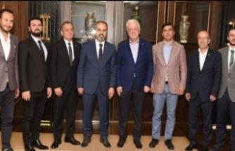 Bursaspor yönetiminden Alinur Aktaş'a ziyaret