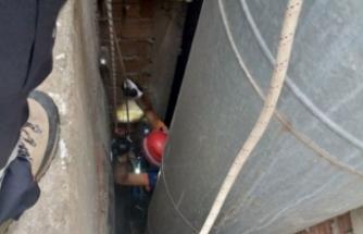 Bursa'da kurtarma operasyonu! Düştüğü yerden böyle çıkarıldı