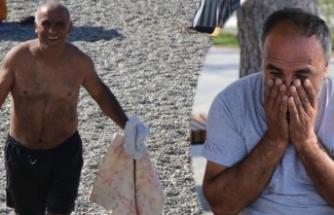 Denizde kaybolduğu sanılan ağabeyi plajda bulununca gözyaşlarına boğuldu!