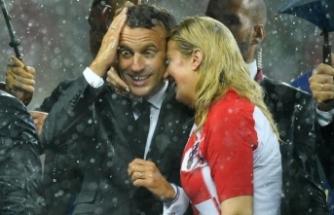 Dünya Kupası kupa seremonisine Macron ve Kitarovic damga vurdu!