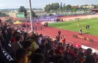 Galatasaray - Valencia maçında kavga çıktı
