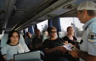Bursa'da bayram öncesi yolcu otobüslerine şok denetim!