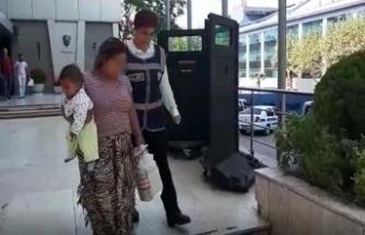 Bursa'da kucağında bebeğiyle adliyeye sevk edildi!
