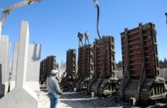 1 haftada 250 beton blok İdlib'e gönderildi