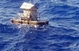 49 gün okyanusta sürüklendi, şans eseri kurtarıldı!