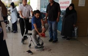Bursa'da muayene için geldiği hastanede kaza geçirdi!