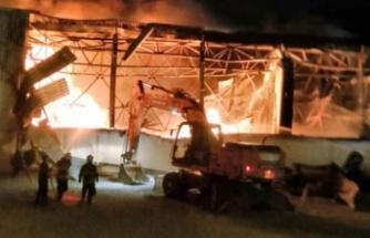 Gıda fabrikasında büyük yangın!
