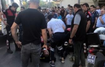 Motorize yunus ekipleri kaza yaptı: 2 yaralı