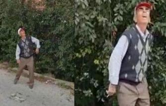 Drone gören yaşlı adamın tepkisi sosyal medyayı salladı