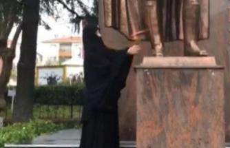 Atatürk büstüne baltayla saldıran kadın ile ilgili yeni gelişme!
