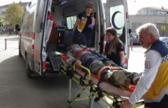 Bursa'da iş kazası! Beton zemine çakıldı