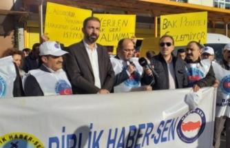 Bursa'da PTT çalışanlarından eylem!