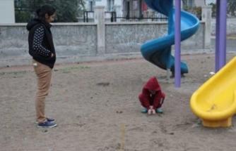 Çocuk parkında dehşete düşüren görüntü!