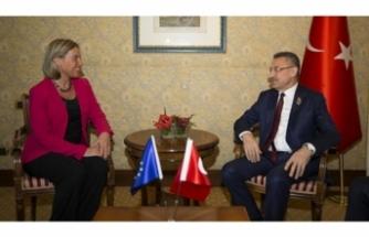 Cumhurbaşkanı Yardımcısı Oktay, Mogherini ile görüştü