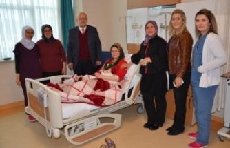 Başkan Sargın'dan hastalara ziyaret