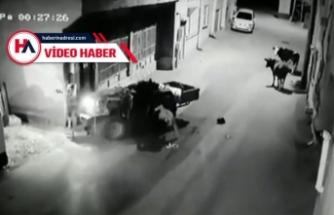 Bursa'da akılalmaz kaza! Bir anda karşısına çıktılar...