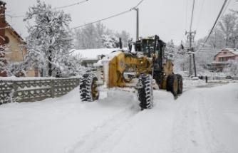 Bursa'da kar nöbeti