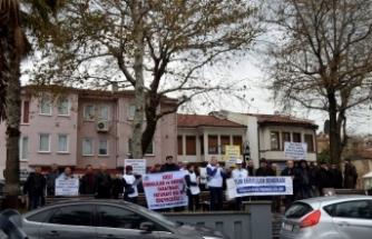 Emekliler Bursa'da eylem yaptı
