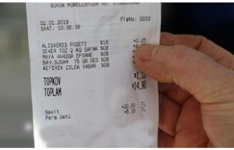 Marketten alışveriş yaptıktan sonra fişinizi mutlaka kontrol edin!