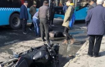 Motosiklet sürücüsü dehşet saçtı!