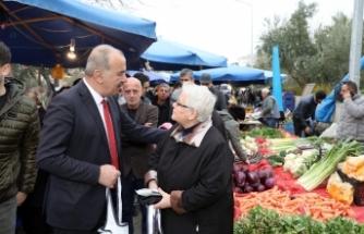 Mudanyalıların pazar çantası Başkan Türkyılmaz'dan