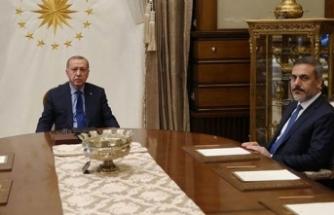 Cumhurbaşkanı Erdoğan Hakan Fidan ile görüştü