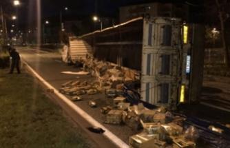 Yalova-Bursa karayolunu trafiğe kapatan kaza!