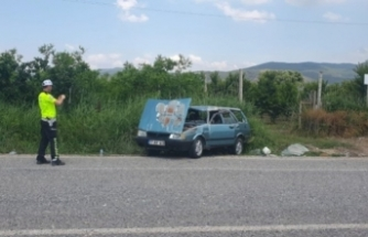Bursa'da korkunç kazada şans eseri yaralanan olmadı!