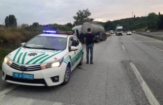 Bursa'da TIR'a belediye otobüsü çarptı: 1 yaralı
