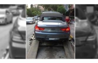 Drift yapan sürücüye ceza yağdı!