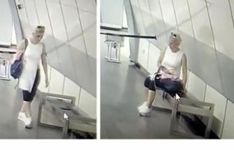 Kadın hırsız bankta unutulan telefonu böyle çaldı!