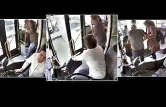 Otobüs şoförü Zeliha Kaptan yolcunun hayatını kurtardı