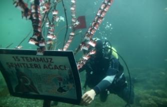 15 Temmuz fotoğrafları su altında sergilendi