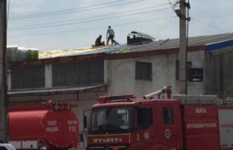 Bursa'da sanayi sitesinde yangın paniği!