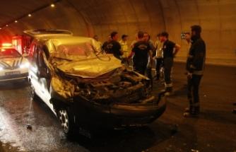 Bursa'da  TIR'a arkadan çarpan aracın sürücüsü öldü