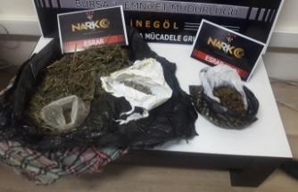 Bursa'da uyuşturucu tacirlerine bir darbe de polisten