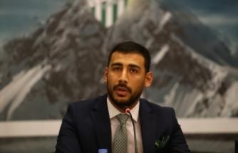 """Bursaspor Sportif Direktörü Erdoğan: """"Zorlu süreci sabırla geçeceğiz"""""""