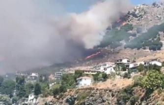 Marmara Adası'ndaki yangın kontrol altına alınamıyor!