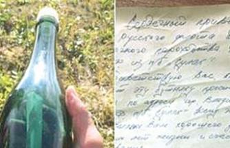 Şişeden 50 yıllık mektup çıktı