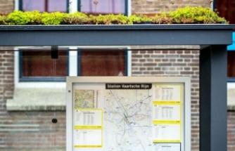 Utrecht, otobüs duraklarının üzerini yeşillendirdi