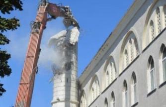 Avcılar'da hasar gören minarede son durum!